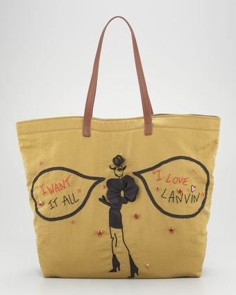 Lanvin Sketches Shopping Bag - Lyst