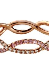 Monique Péan Pink Champagne Diamond Interlocking Wave Band - Lyst