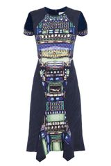Peter Pilotto Dillon Truck Print Dress - Lyst