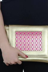 Poupee Couture Metal Clutch - Lyst