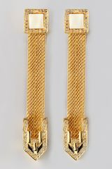 Rachel Zoe Snake Chain Drop Earrings - Lyst