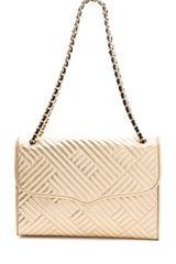 Rebecca Minkoff Metallic Quilted Large Affair Bag - Lyst