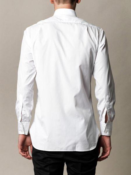Turnbull Asser Classic Egyptian Cotton Shirt In White