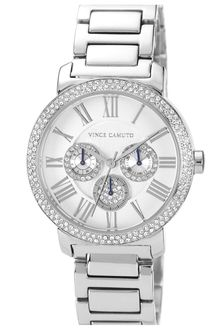 Vince Camuto Crystal Accent Multifunction Watch - Lyst