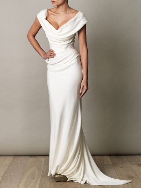 Vivienne westwood gold label cocotte georgette drape dress for Mature women wedding dress