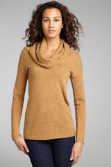 Autumn Cashmere Cinnamon Cashmere Cable Knit Cowl Neck Sweater - Lyst