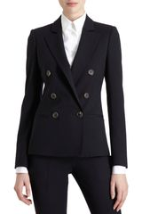Barneys New York Doublebreasted Blazer in Blue (navy) - Lyst