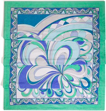 Emilio Pucci Dark Blueaqua Multi Cotton Beach Towel - Lyst