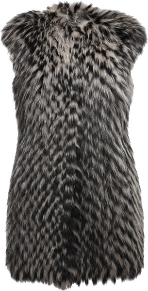 Gianfranco Ferré Fox Fur Gilet - Lyst