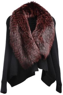 Liska Fox Fur Detail Jacket - Lyst