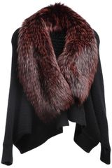 Liska Fox Fur Detail Jacket
