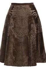 Liska Lamb Fur Skirt - Lyst
