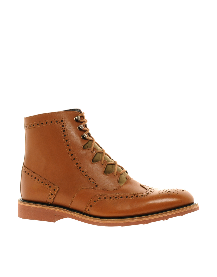 barbour cade brogue boots in brown for lyst