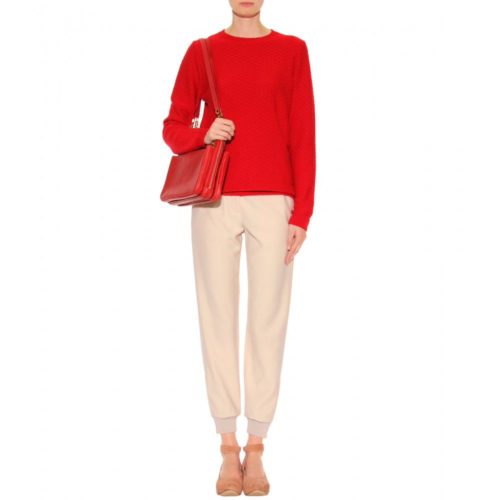 Chlo¨¦ Lucy Leather Shoulder Bag in Red (gold) | Lyst