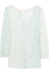 Girl. By Band Of Outsiders Floralprint Cotton and Silkblend Blouse - Lyst