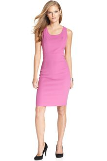 Nine West Sleeveless Scoopneck Sheath - Lyst