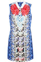 Peter Pilotto An Printed Silk Blend Jacquard Mini Dress - Lyst