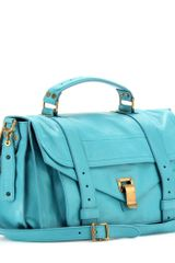 Proenza Schouler Ps1 Medium Leather Tote in Blue - Lyst