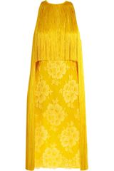 Stella McCartney Fringed Lace and Crepe Dress - Lyst