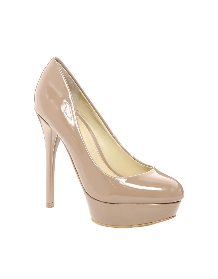 aldo fronime platform court shoes in pink beige lyst