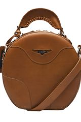 Carven Round Leather Bag