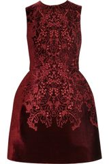 McQ by Alexander McQueen The Broderie Anglaise Velvet Bell Dress