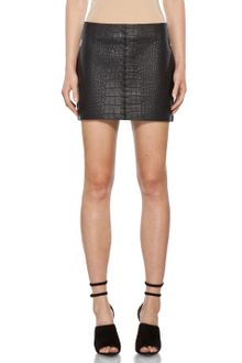 Alexander Wang Lace Detail Mini Skirt in Black - Lyst