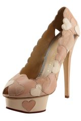Charlotte Olympia Love Me Heartapplique Pump Blus - Lyst