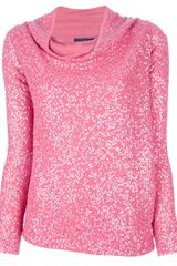 Donna Karan New York Sequined Sweater - Lyst