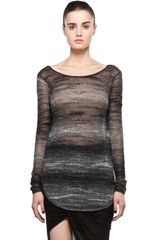 Helmut Lang Distorted Mohair Pullover in Black - Lyst