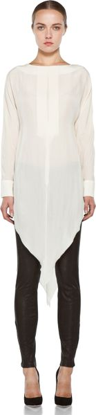 Kelly Wearstler Water Washed Sinead Top in Chalk in White (chalk)