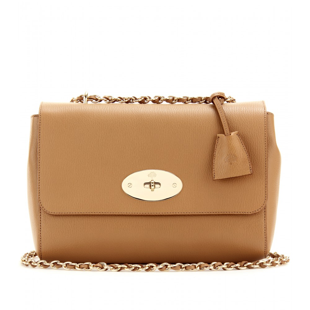 94a29580ec3d ... denmark lyst mulberry medium lily grainy leather shoulder bag in brown  362fd 07e38