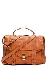 Proenza Schouler Ps1 Extra Large Leather in Saddle - Lyst