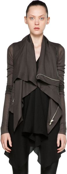 Rick Owens Opera Biker Jacket in Dark Dust - Lyst