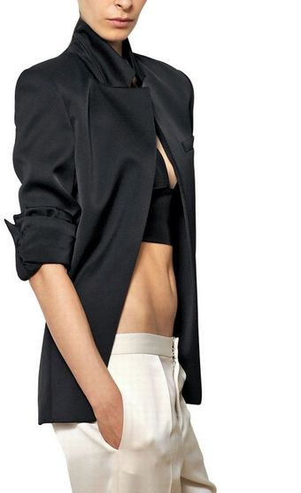 Alexander Wang Shiny Techno Crepe Jacket - Lyst