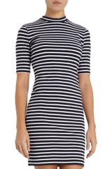 Alexander Wang Striped Mock Neck Dress