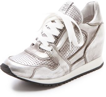 Ash Dean Metallic Wedge Sneakers - Lyst