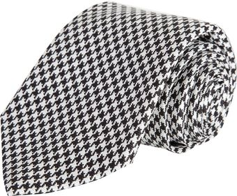 Barneys New York Mini Houndstooth Check Tie - Lyst