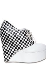 BB Bruno Bordese 130mm Woven Geometric Calfskin Wedges - Lyst