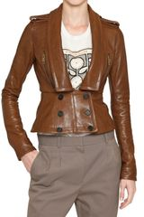 Burberry Prorsum Slim Fit Nappa Leather Jacket - Lyst