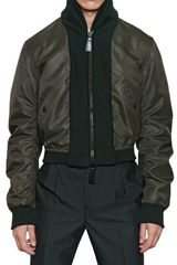 Burberry Prorsum Nylon Wool Knit Bomber Jacket - Lyst