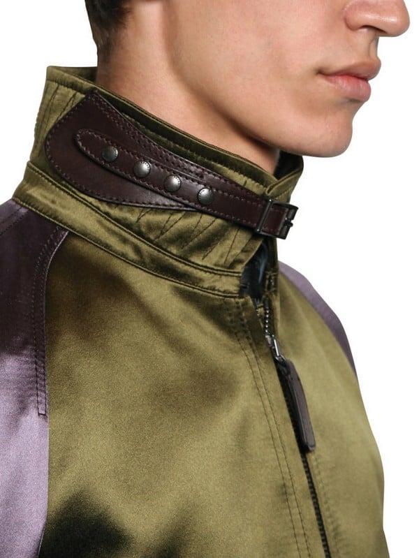 Lyst Burberry Prorsum Viscose Silk Satin Bomber Jacket