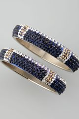Chamak By Priya Kakkar Montana Blue Crystal Bangles Set Of Two - Lyst