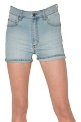 Cheap Monday 5 Pocket High Waist Denim Shorts - Lyst