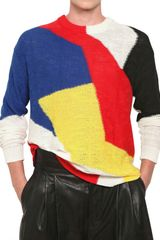 Damir Doma Multicolor Intarsia Cotton Knit Sweater