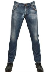 Dolce & Gabbana Gold Worn Cotton Denim Jeans - Lyst