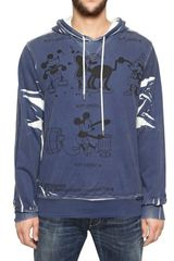 Dolce & Gabbana Mickey Mouse Light Cotton Fleece Hoody - Lyst