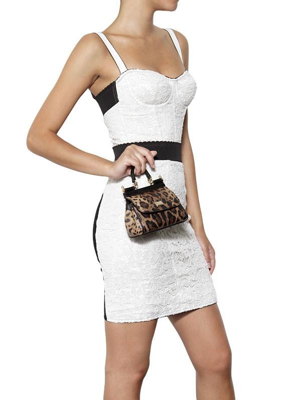 Lyst Dolce Amp Gabbana Mini Miss Sicily Leopard Print Pvc