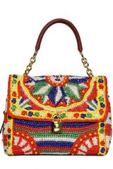 Dolce & Gabbana Dolce Bag Crochet Raffia Top Handle - Lyst