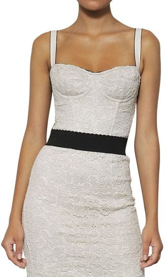 Dolce & Gabbana Cotton Viscose Lace Galon Top - Lyst